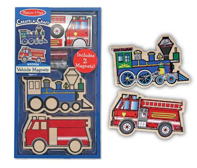 Create-A-Craft Wooden Vehicles Magnets