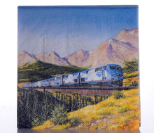 Amtrak Train Beverage Napkins