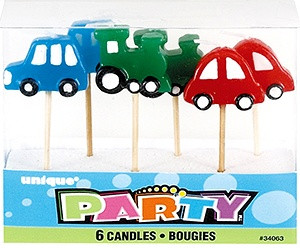 Train & Cars Pick Candles