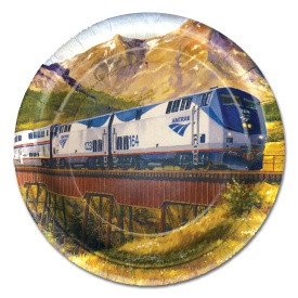 Amtrak Train Dessert Plates