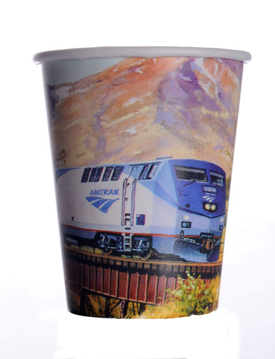 Amtrak Train Party 9oz Paper Cups