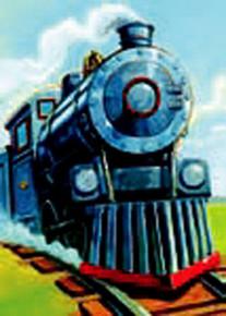 Steam Train Gift Enclosure Card