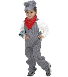 Jr. Train Engineer Costume Size 8-10 - Boy