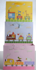 Baby Matte - Train Gift Bags