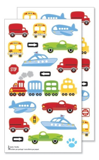 Traffic Jam Transportation Theme Stickers