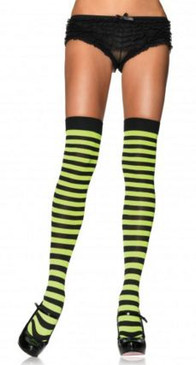 Leg Avenue nylon stripe thigh high - more colours
