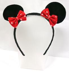 Mouse ears with red bows Head band