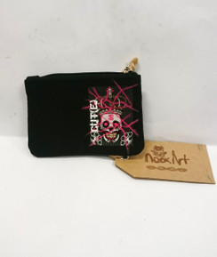 Nook Art Cut(e) coin purse with skull and crown charm