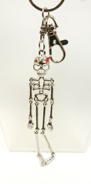 Large articulated skeleton key ring