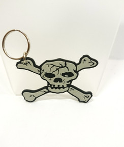 Skull and cross bones key ring