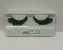 Black short feather lashes