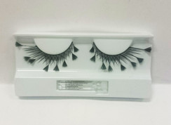 Black lashes with feather extensions