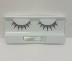 Purple lashes with bead detail