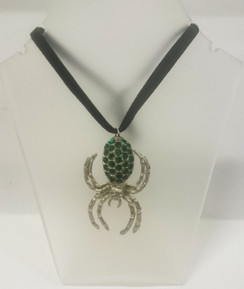 Gregory Bolton green spider pendant necklace