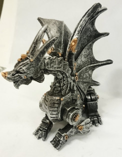 Sitting Steampunk dragon