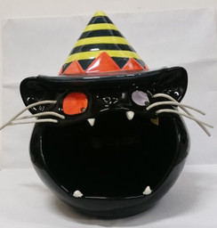 Halloween Black Cat candy bowl (motion sensing)
