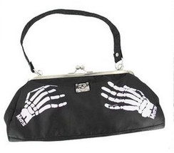 Misfit skeleton hand bag