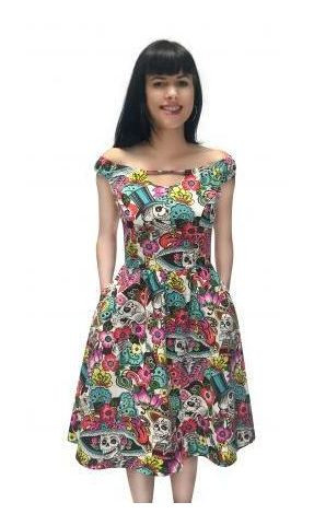 Folter Arrive in Skulls Day of the Dead Dress
