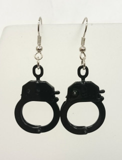 Black handcuff earrings