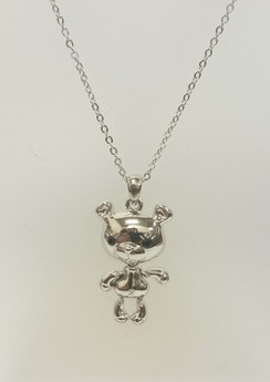 Moving Teddy necklace