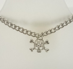 Diamante skull and crossbones bracelet