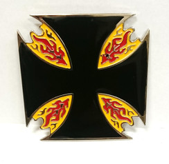 Flaming Iron Cross Buckle