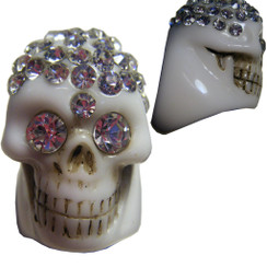 Diamontie Skull ring - White