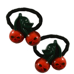Cherry Skull hair ties