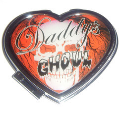 Daddy's Ghoul Heart Compact Mirror