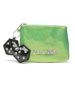 Miss Lux Pouch in Green Sparkle