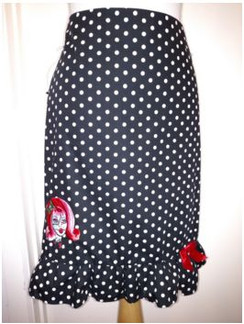 Dot skirt with zombie girl and bow
