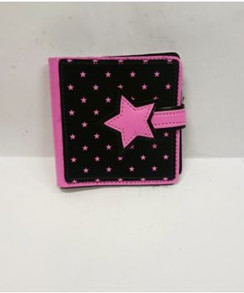 Pink and black star wallet