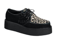 "Creeper-400 Leopard faux fur print with 2"" platform"