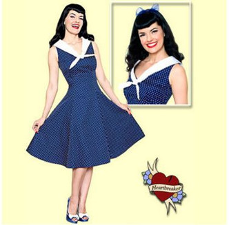 Betty Page - Sailor dress