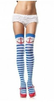 Anchors away stripe thigh hi