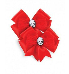 Lucky 13 Beauty Forever set of 2 bows - red