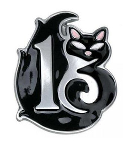 Lucky 13 Black cat buckle