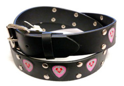 Lucky 13 pink guitar pick belt