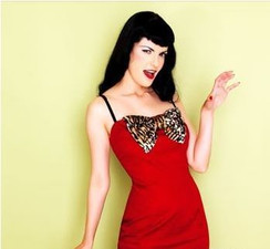Lucky 13 red leopard bow dress