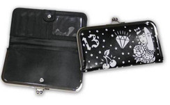 Lucky 13 Tattoo print hinged wallet