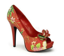 Lolita 11, red floral fabric