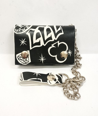 Rock Rebel Lucky sevens wallet with chain