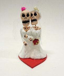 Day of the dead bride & bride cake topper
