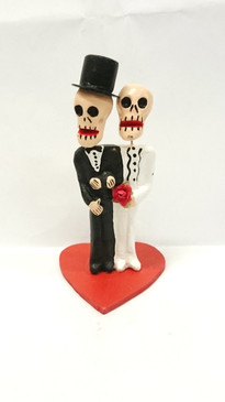Day of the dead groom & groom cake topper