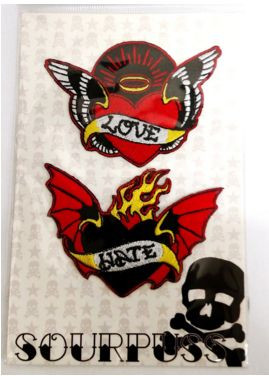 Sourpuss Love Hate patches