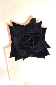 Extra large black velvet rose