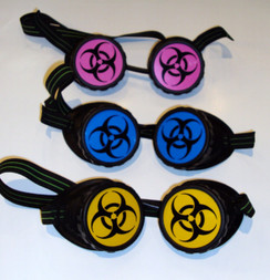 Bio hazard goggles - Black with Yellow lens