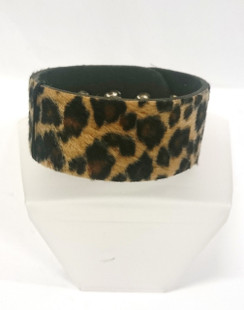 Wide Brown/Tan Leopard cuff