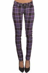 Tripp Purple Plaid skinny pants