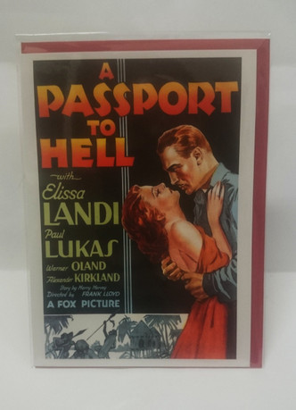 A Passport to Hell day blank card with envelope